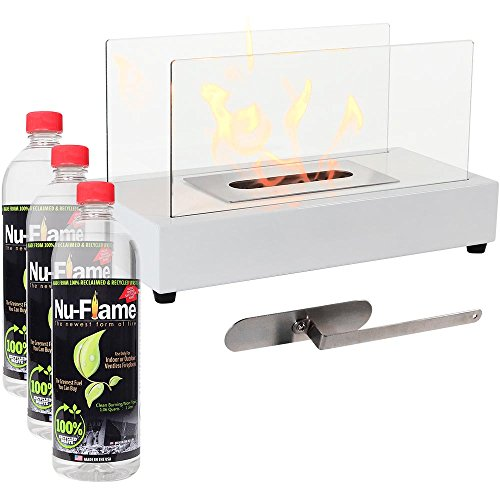 compare price white ethanol fireplace on. Black Bedroom Furniture Sets. Home Design Ideas