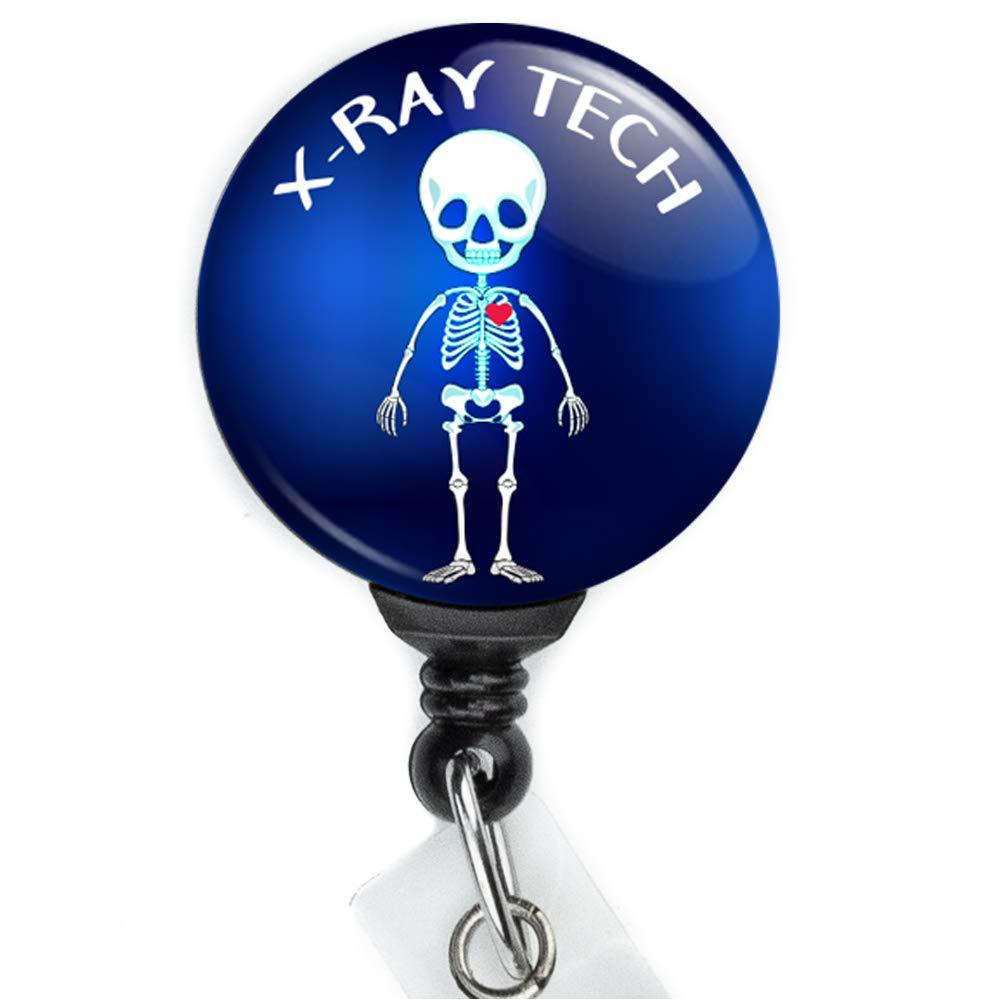 PERFECT X-Ray Retractable Badge Reel Orthopedics Skeleton Hand Badge Clip Skeleton Hand Badge Reel Radiology X-Ray Tech Badge Holder