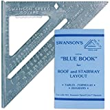 Swanson Tool T0101 Speed Square with Blue Layout Book