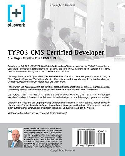TYPO3 CMS Certified Developer: Vorbereitung auf die Prüfung der ...