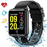 Mpow Smart Watch Fitness Tracker with Sleep Monitor, Large Screen Activity Tracker Heart Rate Monitor, Pedometer, Call and Message Reminder,Multi-Sport Modes for Android and iOS Smart Phones for Gift