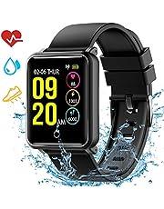 Mpow Smartwatch Wasserdicht IP68 Smart Watch Uhr mit Pulsmesser Fitness Tracker Intelligente Armbanduhr Sport Uhr mit Schrittzähler Schlaf-Monitor Call SMS Benachrichtigung Push für Android und iOS