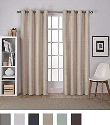 Exclusive Home Curtains Raw Silk Thermal Window Curtain Panel Pair