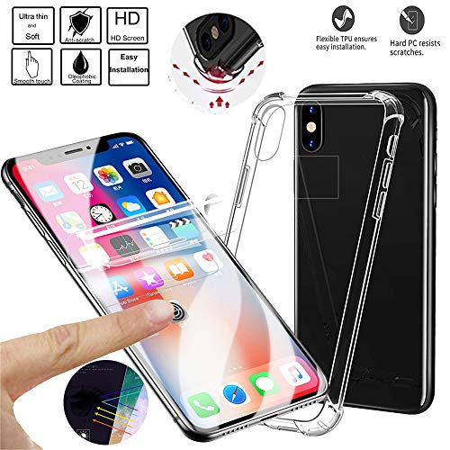 2 pack- Case Compatible iPhone Xs Max, Crystal Clear Protective Cover Soft Screen Protector fo iPhone XsMax 6.5 inch 2018 Ultra Slim Drop Protection - (Best Goodtrade8 Iphone 6 Cases)