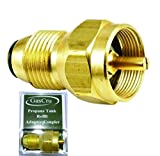 Cheap Gascru Propane Refill Adapter – SAFEST Tank Fill Attachment – This Brass Regulator Valve Accessory Fits All 1 lb Cylinder Tanks – Lifetime Guarantee