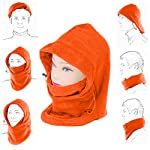 Fleece Full Face Mask,2 Pack Tactical Balaclava Hood,Windproof Ski Mask Face Mask Motorcycle Neck Warmer Ultimate Thermal Comfortable Moisture for Fishing, Hunting, Yard work, Running, Motorcycling