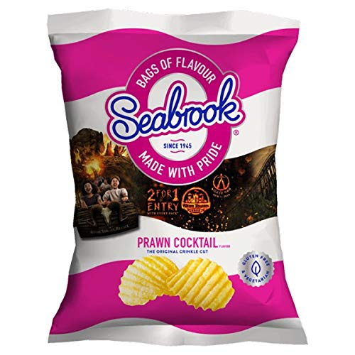 Seabrook Crinkle Standard Crisps 32 Packs (Sea Salted)