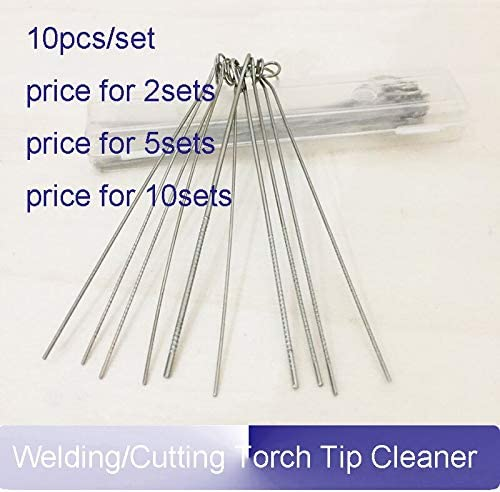 1 Set Cleaner Needle Welding Tip Cleaner Nozzle Cleaner Gas Welding Brazing Cutting Torch Tip