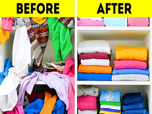 20 Space-Saving Clothes Folding Ideas