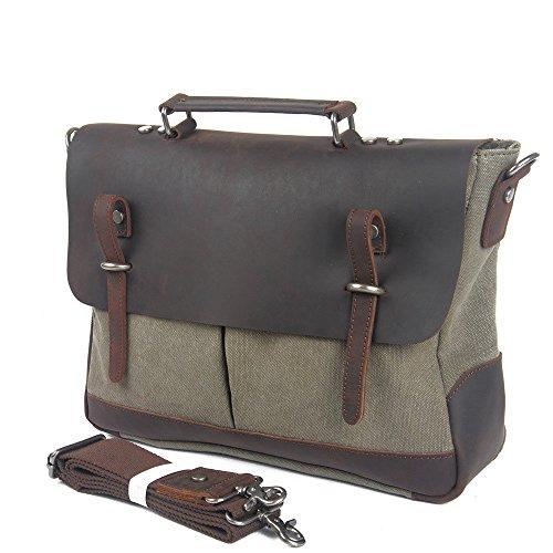 Sacs Travail Homme Bags Travel Couleur Hommes Pour Messenger À Toile Kaki Le Et Crossbody Bag Vert L'école En Bandoulière P7tgf