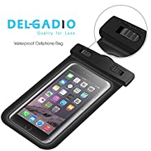 Delgadio Waterproof Phone Case, Dustproof, Touch friendly, and Scratch resistant for Iphone 6s, Samsung S6, Google Pixel, One Plus, And LG phones
