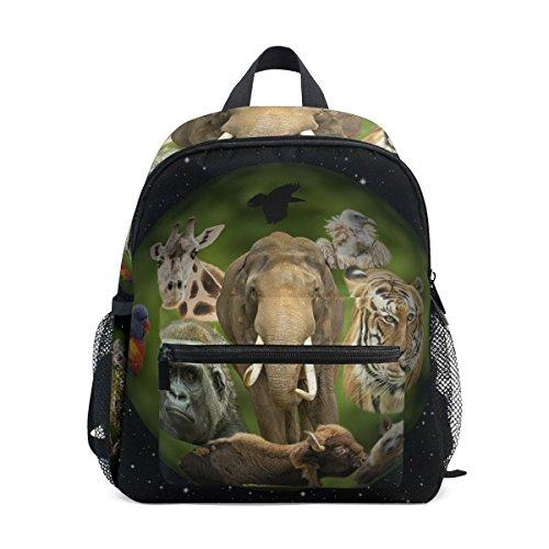 GIOVANIOR Animal Planet Lightweight Travel School Backpack for Boys Girls Kids