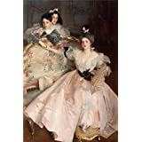Canvas Prints Of Oil Painting 'John Singer Sargent - Mrs Carl Meyer And Her Children,1896' 12 x 18 inch / 30 x 46 cm , Polyster Canvas Is For Gifts And Foyer, Gym And Study Room Decoration, small