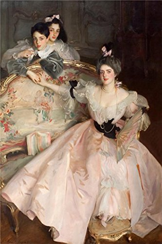 Oil Painting 'John Singer Sargent - Mrs Carl Meyer And Her Children,1896' 16 x 24 inch / 41 x 61 cm , on High Definition HD canvas prints is for - For Gifts Woolworths Her
