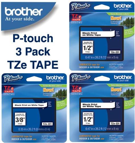 Brother Laminated Black White TZe 231 product image