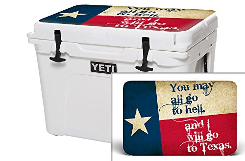 USA Tuff Thickest & Toughest Wrap 24Mil Cooler Accessories Decal for YETI 35QT Tundra Lid Kit – Texas Go To