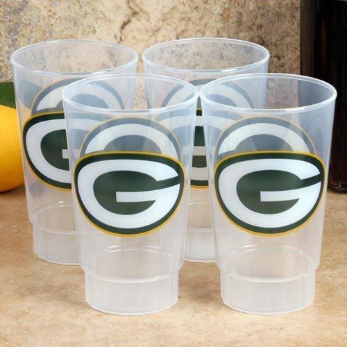 Green Bay Packers 4-Pack 16oz. Plastic Cups