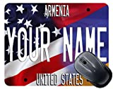 BRGiftShop Customize Your Own Mixed USA and Armenia Flag Mouse Pad