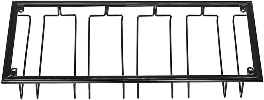 50 x 22,5 x 5,5cm Sunbary Support de Verre /à Vin Porte-Verres Suspendu Stemware en Rack avec 5 Rails