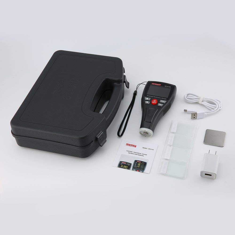 Erduo WINTACT WT2100 Mini Digitaler Beschichtungsfilm Eisendickenmessgerät Autolackiergerät Testgerät Handheld Testing Farbe LCD - Schwarz