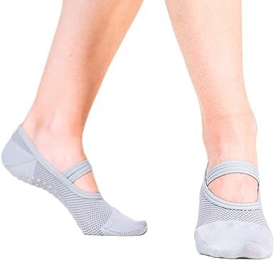 Great Soles Calcetines antideslizantes de agarre adhesivo para yoga, pilates, barra, estiramientos