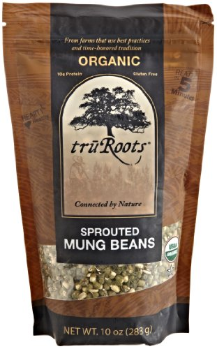 (truRoots Organic Sprouted Mung Beans, 10-Ounce Pouches (Pack of 6))