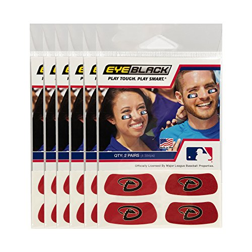 (24 Strips) Arizona Diamondbacks MLB Eye Black Anti Glare Strips, Great for Fans & Athletes on Game Day