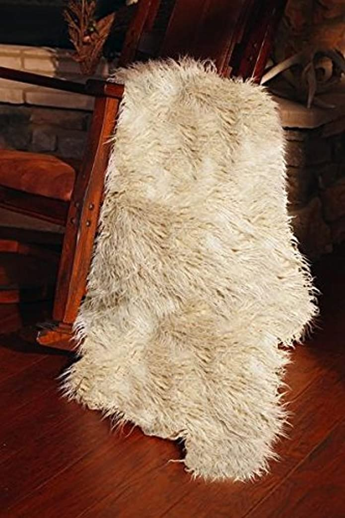 Carstens White Faux Fur Sheep Throw Blanket