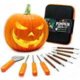 #3: Joyousa Pumpkin Carving Tools Kit Heavy Duty Stainless Steel Jack-O-Lantern Halloween- 10 Piece
