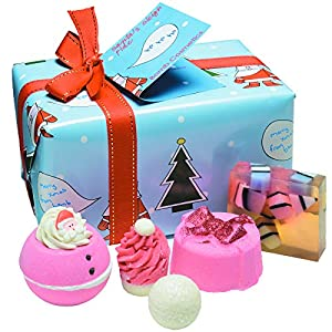 Bomb Cosmetics Santa's Sleigh Ride Handmade Wrapped Bath and Body Gift Pack, Contains 5-Piece, 480 g (Contents May Vary)