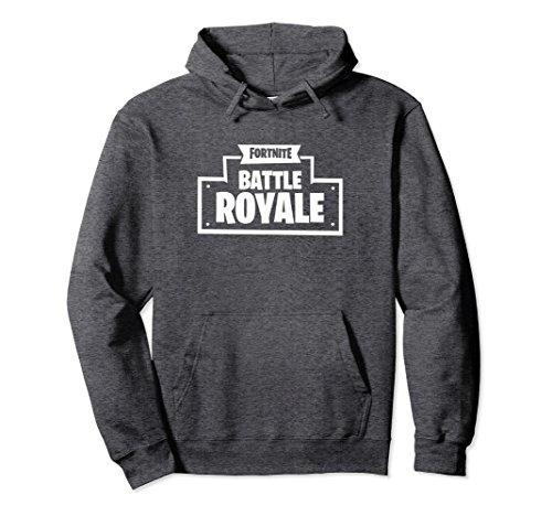 Unisex Fortnite Battle Royale Logo Hoodie Small Dark Heather