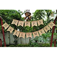 Happy Halloween Bunting Banner Decoration, Fall Decor, Rustic Autumn Decor, Halloween Bunting decor