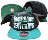 Tampa Bay Devil Rays Block Two Tone Plastic Snapback Adjustable Plastic Snap Back Hat / Cap