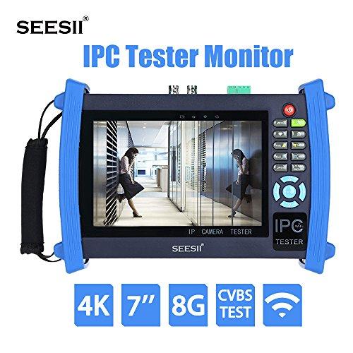 Probador del Cámara Monitor CCTV de Seesii 7' IPC Pantalla Táctil de Prueba Analógica Cámara de Vigilancia Portátil...