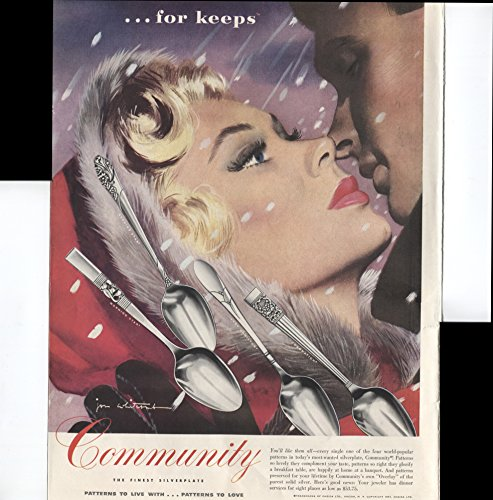 Community The Finest Silverplate Patterns To Live With Patterns To Love Morning Star Evening Star Lady Hamilton Coronation 1951 Vintage Antique Advertisement