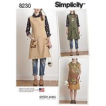 Simplicity Creative Patterns US8230A 8230 Simplicity Pattern 8230 Misses' Dottie Angel Reversible Apron Dress & Tabard