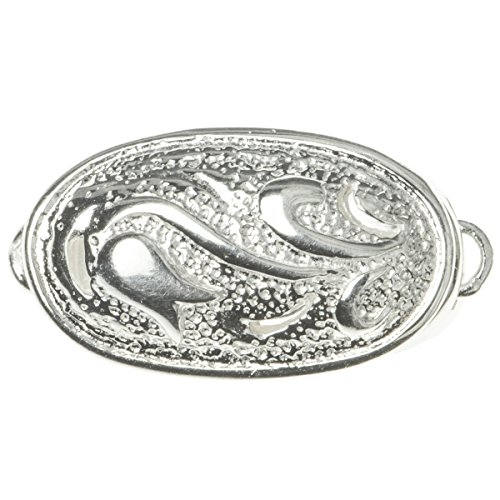 - Dreambell .925 Sterling Silver 1 Strand Flower Oval Button Pearl Box Clasp 24mm Connector Switch Bead