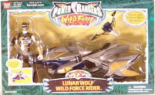Power Rangers Wild Force Lunar Wolf Wild Force Rider Action Figure and Vehicle Set (Power Rangers Wild Force Lunar Wolf Ranger)