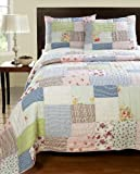 Be-You-tiful Home Alana Patchwork Twin Quilt Set with Sham, Multi