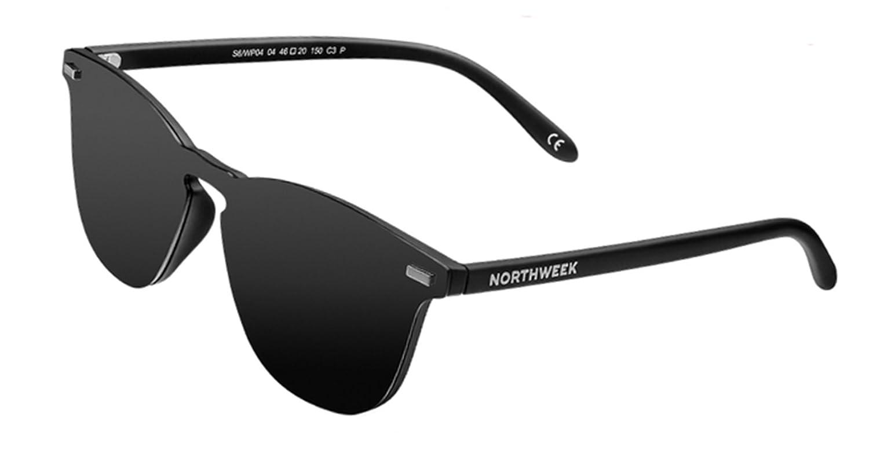 NORTHWEEK Wall Phantom All Black Gafas de Sol, Negro, 136 Unisex