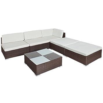 Amazon.de: TecTake Hochwertige Luxus Lounge Set Poly Rattan ...