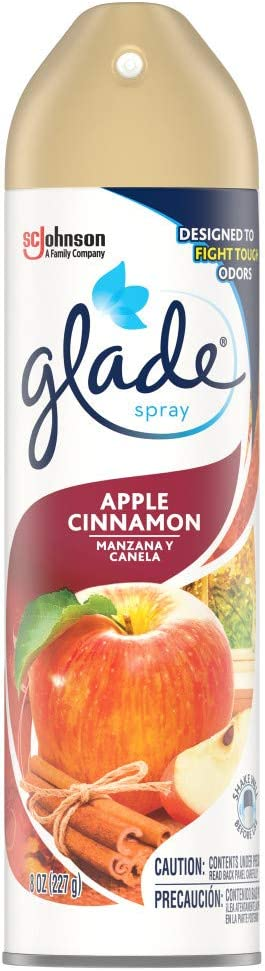 Glade Air Freshener, Room Spray, Cinnamon, 8 Oz, Pack of 12
