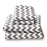 Colorful Gray Chevron Queen Sheets Breathe 50% Better Than Cotton and Are Made from Super Soft High Quality Microfiber That Is as Soft as 1500 Thread Count Cotton and Will Not Ball Up, Shrink or Wrinkle