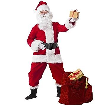 ZXRDSDFS Disfraz de Papá Noel Disfraz de Navidad Conjunto de ...