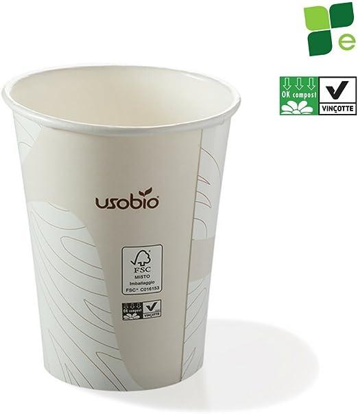 Vasos desechables biodegradables y compostables de 240 ml ...