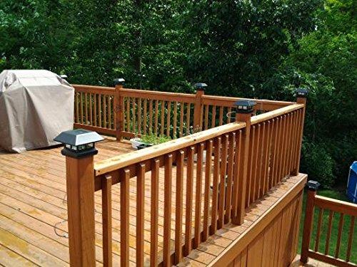 Veranda 4 in. x 4 in. Black Solar-Powered Post Cap for Deck or Fence, Black (12 PACK) by Veranda (Image #6)