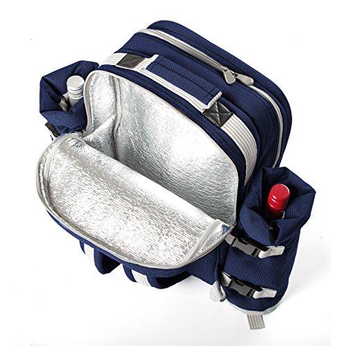 Zaino da picnic - colore blu marino, Greenfield Collection Luxury.