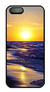 iPhone 5 5S Case landscapes nature sunset sea 7 PC Custom iPhone 5 5S Case Cover Black