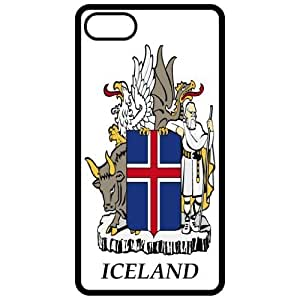 Iceland - Coat Of Arms Flag Emblem Black Apple Iphone 4 - Iphone 4s Cell Phone Case - Cover