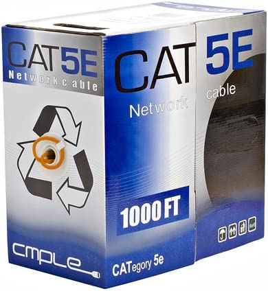 UTP Offex Wholesale CAT5E Solid 350MHz 24 AWG,1000 ft Bulk Cable Red